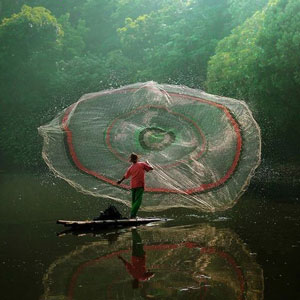 Парашют рыболовный или кастинговая сеть